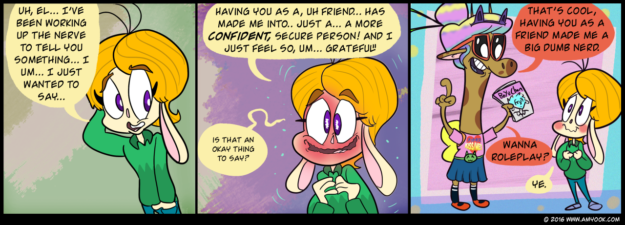Amy Ook Is A Weeb Comic By Alex Scobell and Alex Weebington